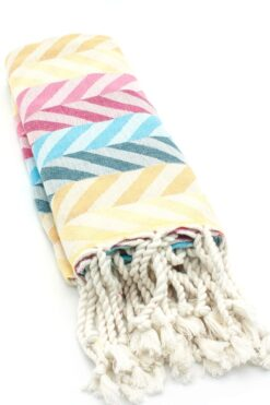 beach towel with chevron pattern