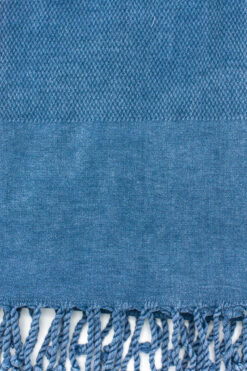 plain blue beach towel