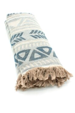 grey beach towel