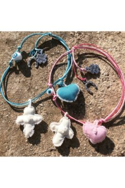 baby charms with heart and cross