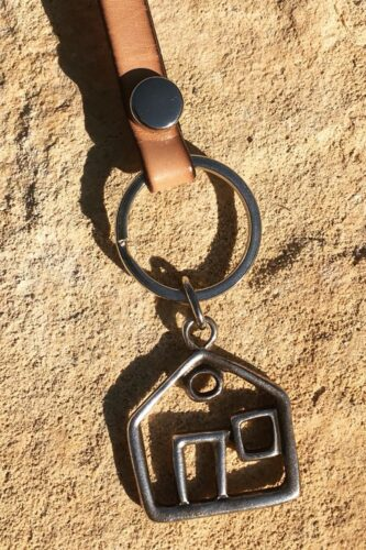 leather home keychain