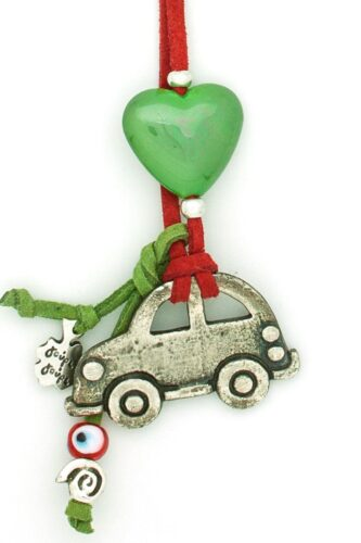 rearview mirror car charm with heart