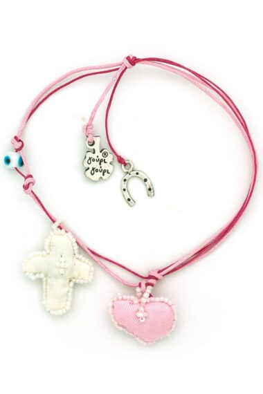 baby charm for girls with heart and cross