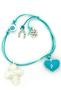 baby charm for boys with heart and cross