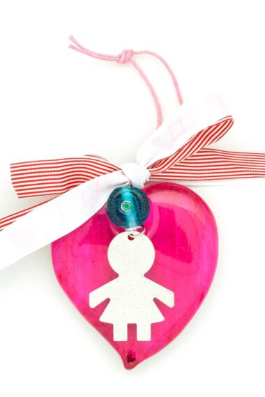 new baby charm for girls with large heart
