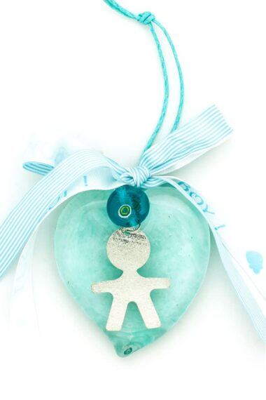 new baby charm for boys with large heart