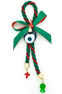 Christmas charm with evil eye