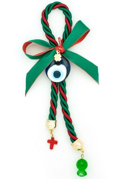 Christmas charm with evil eye