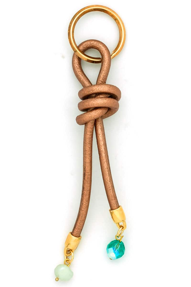Leather Knot Keyring