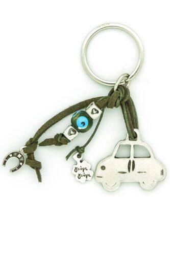 car keychain with hearts