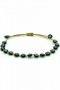 bracelet with black evil eyes