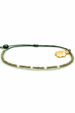 bracelet with pearls and golden hematite
