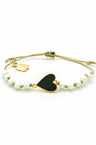 bracelet with heart and pearls