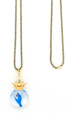 evil eye and crown necklace