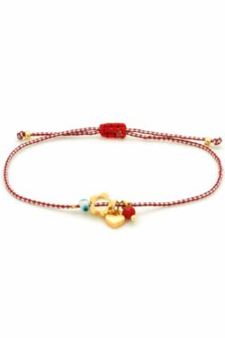 March bracelet with evil eye