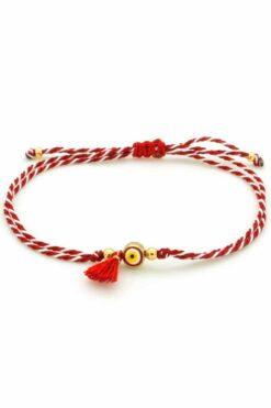 March bracelet with evil eye