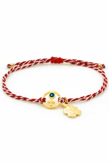 March bracelet with cross & evil eye