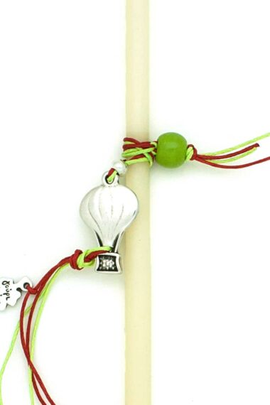 Easter candle with hot air balloon