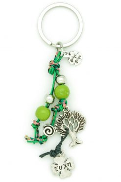 keychain with tree and spiral