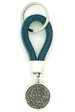 leather keyring with Phaistos disk