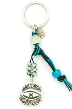 summer keyring with evil eye