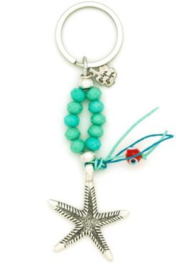 keychain with starfish