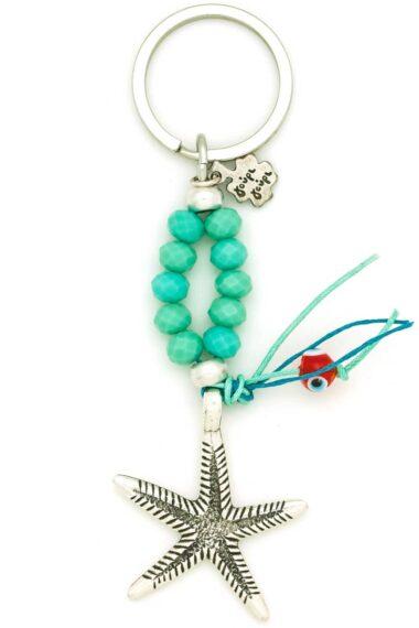 keychain with starfish