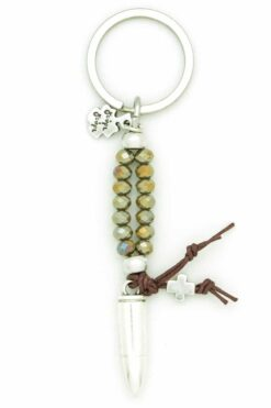 men's keychain with bullet