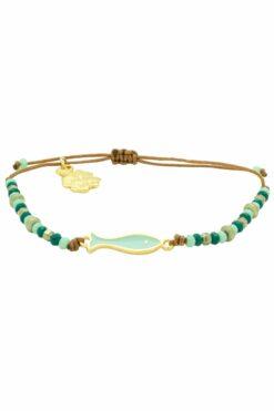 bracelet with turquoise fish