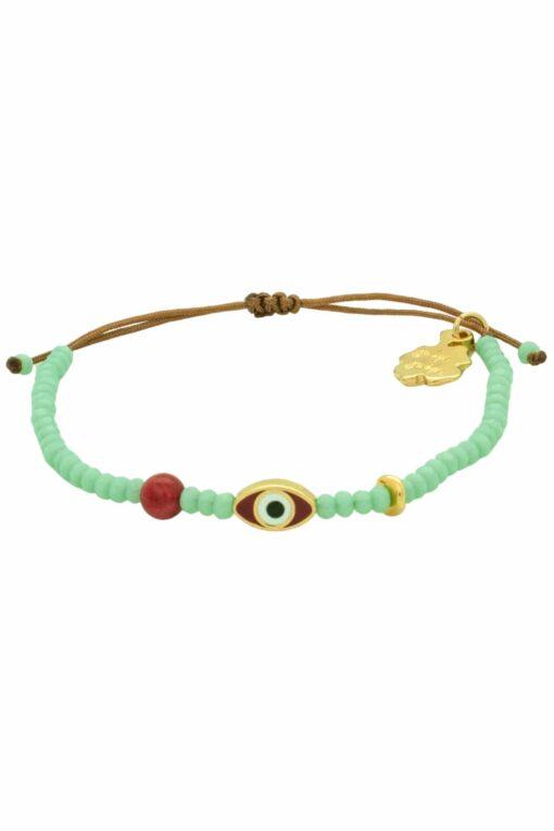 bracelet with red evil eye