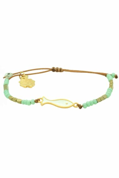 bracelet with white fish