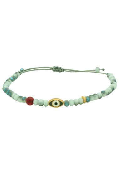 bracelet with turquoise evil eye