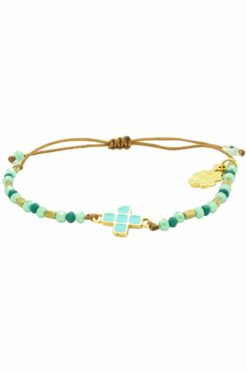bracelet with turquoise cross