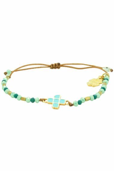 bracelet with turquoise cross