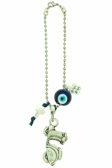 good luck gift for new motorbike with blue evil eye