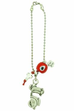 good luck gift for new motorbike with red evil eye