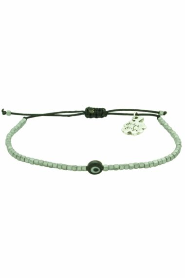 unisex hematite bracelet with evil eye