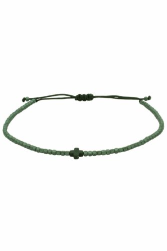 dark-grey unisex bracelet with cross