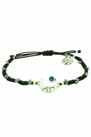 bracelet with silver-plated half moon & stars