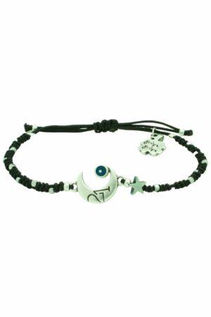 bracelet with half moon & star