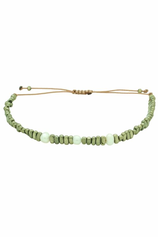 bracelet with three pearls