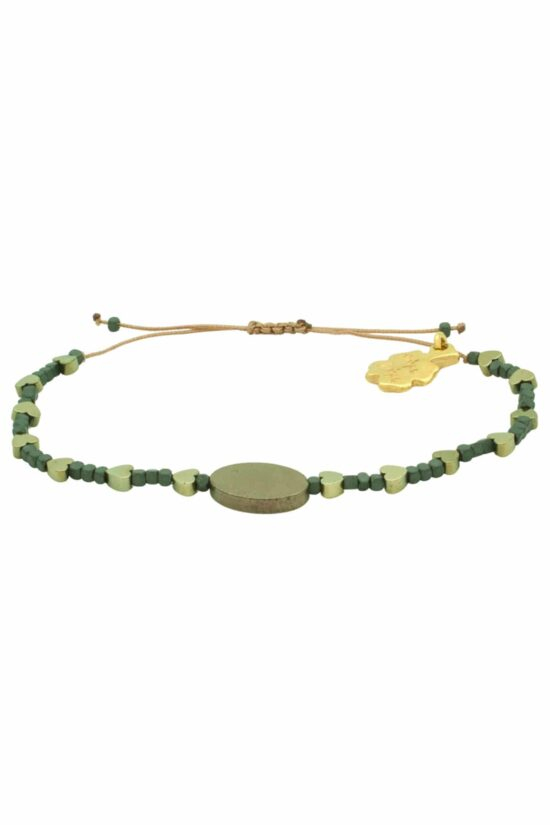 bracelet with golden hearts