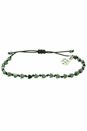 bracelet with grey hearts