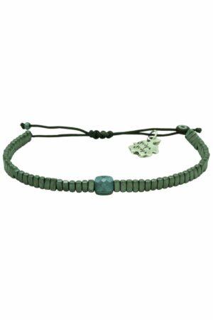 bracelet with crystal & dark grey hematite beads