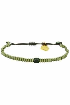 bracelet with crystal & golden hematite beads