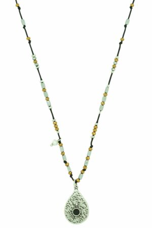 necklace with drop-shaped pendant