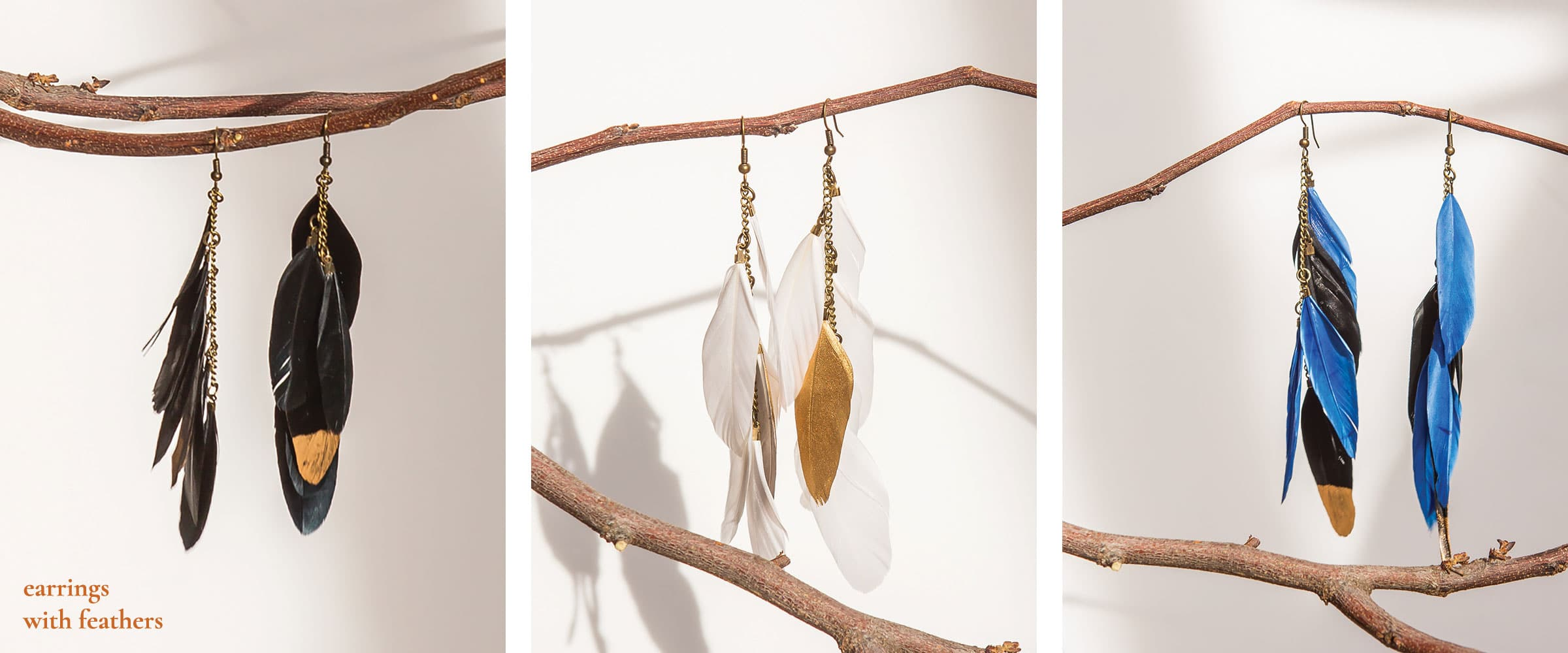 earrings-with-feathers