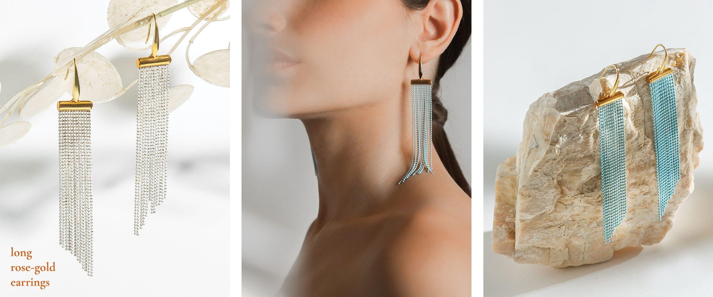 long-rose-gold-earrings