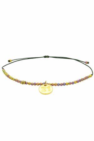 subtle colourful bracelet with 21