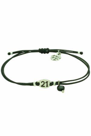 subtle leather bracelet with silver 21